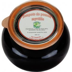 Compote de pomme-myrtille 500g