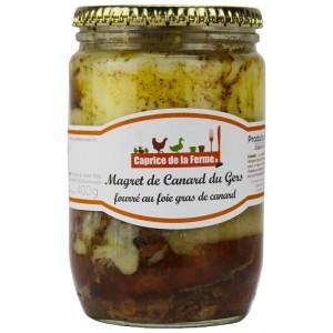 Magret de canard fourré au foie gras de canard 400g