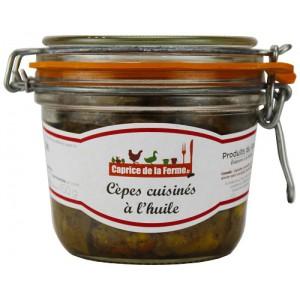 Cèpes cuisinés à l'huile 490g